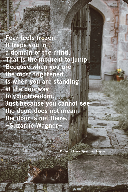Suzanne Wagner Quote The Time To Jump Is When You Feel Frozen In