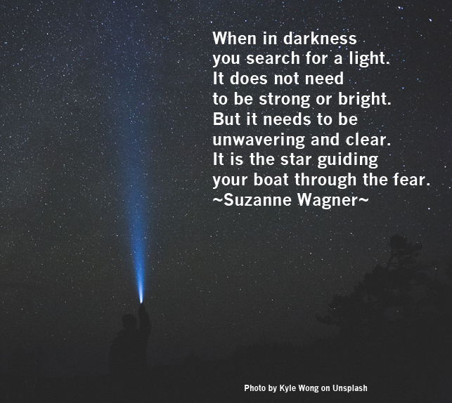 Suzanne Wagner Quote – The Light Guiding You Through Fear ...