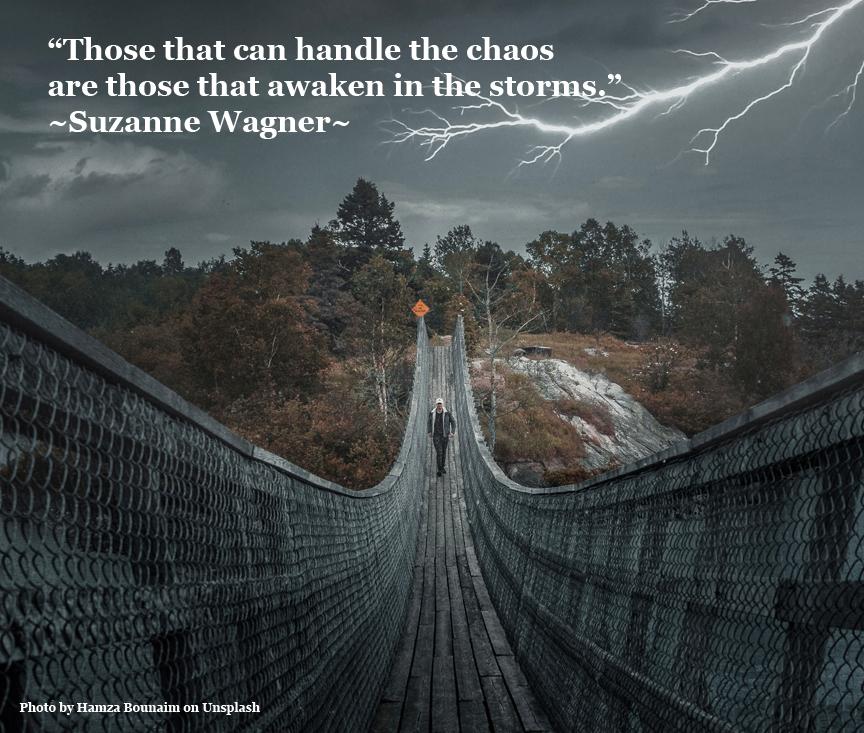 womancrossingbridgeinstormquote