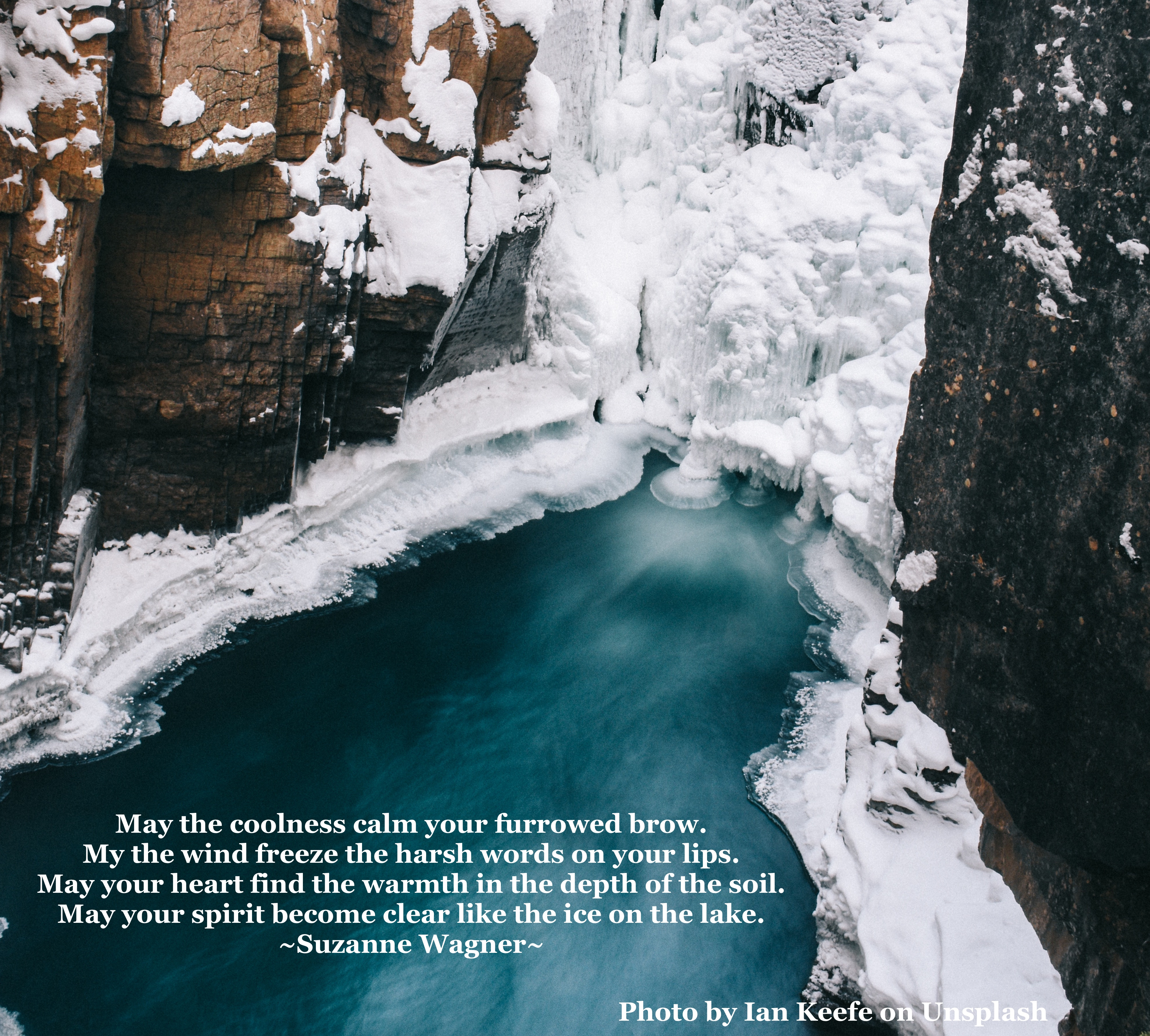 icy pond quote