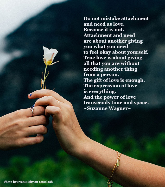 giving a flower of lovequote